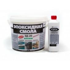 Эпоксидная смола ЭД-20, 5 кг. + Отвердитель ПЭПА 0,5 кг.